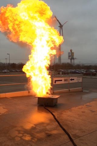 Fettbrandexplosion während einer In-House-Schulung